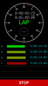 Lap Timer screen shot